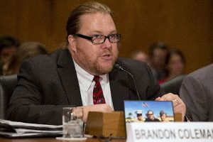 Brandon Coleman testifies before Congress regarding accountability and retaliation